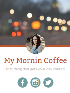 Article - My Mornin' Coffee
