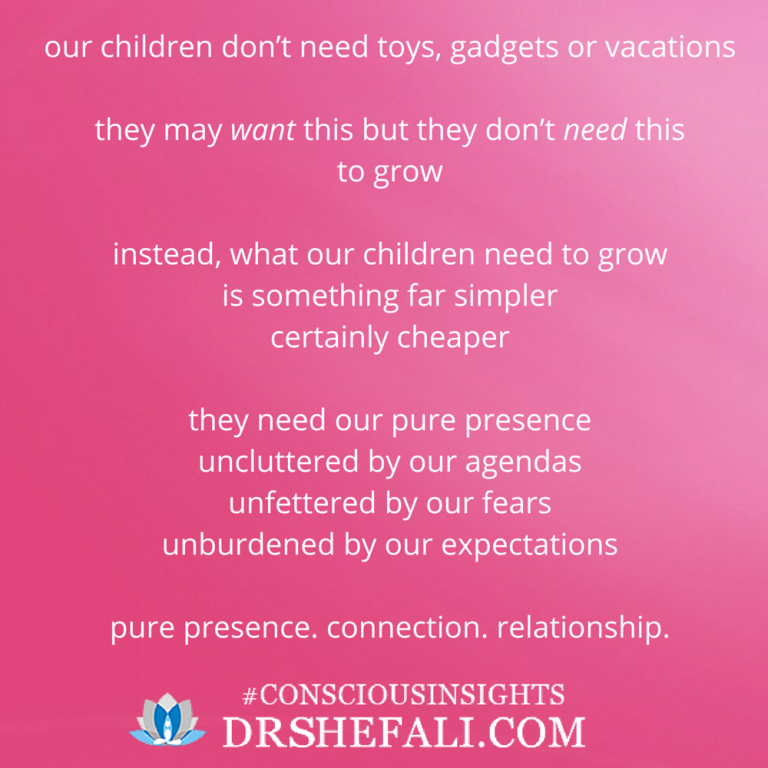 Our children don't need toys – Conscious Insights – January 13, 2016