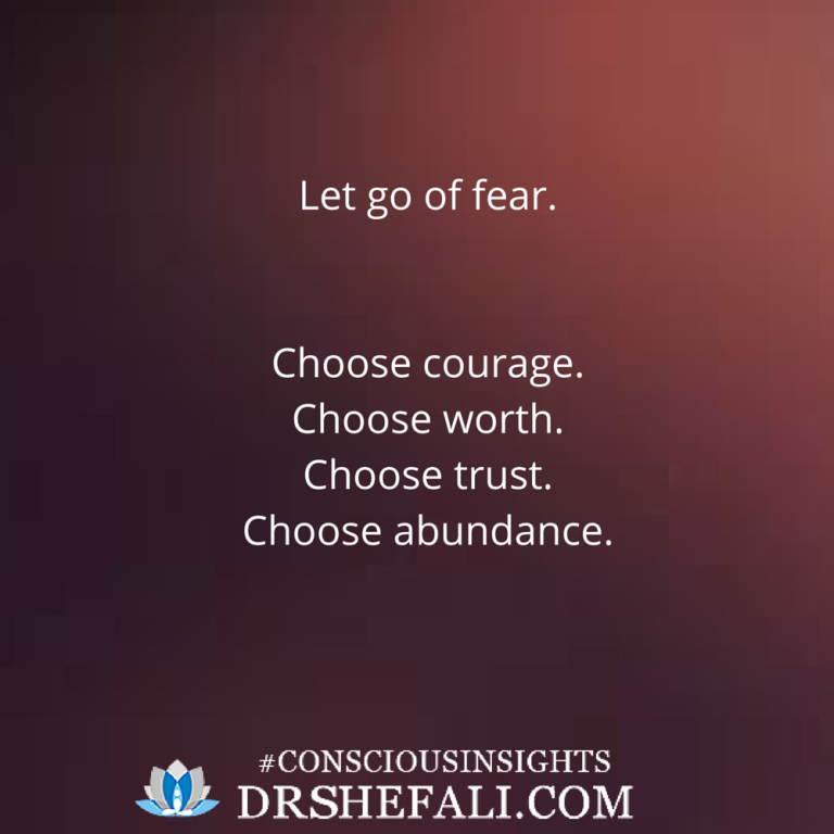 Let go of fear – Conscious Insights – January 24, 2016